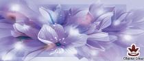 фототапет панел с прекрасни цветя в лилаво