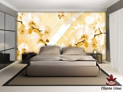 фототапети  композиция с жълти орхидеи